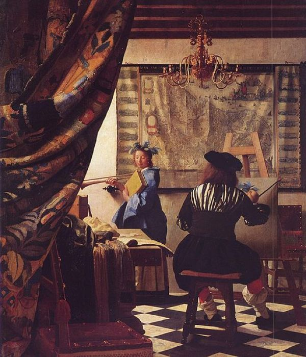 Аллегория живописи -  кисти Вермеера