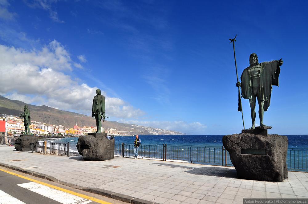 Канделярия, Тенерифе, статуи гуанчей