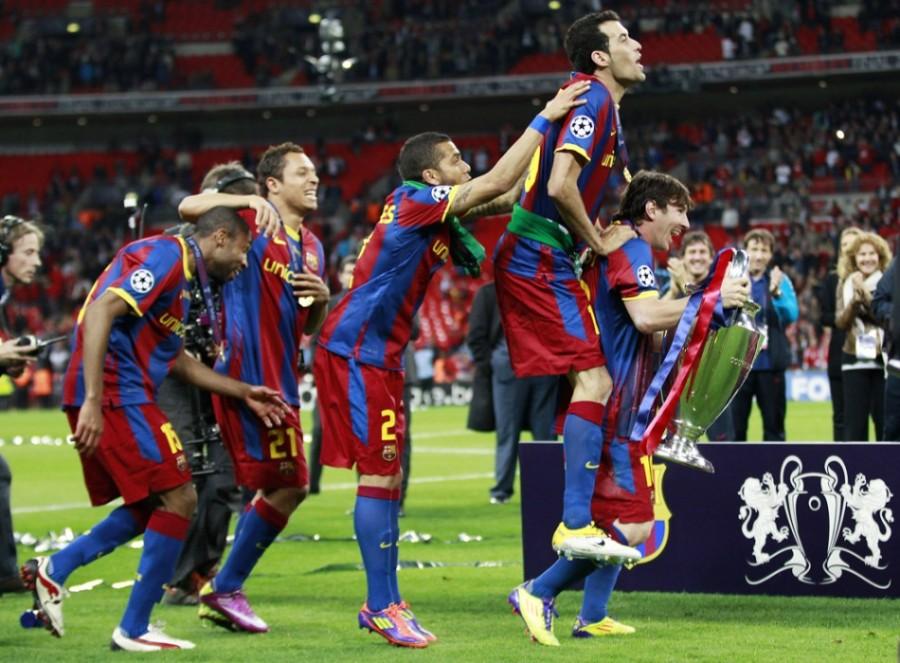 Барселона выиграла у Манчестер Юнайтед в финале Лиги чемпионов. Фото