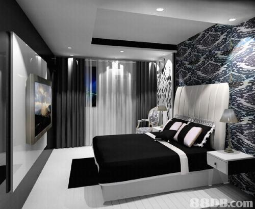 Чёрно-белый интерьер