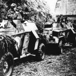 Освобождение Голландии. Солдаты союзников в бронированных транспортных средств (ANP)