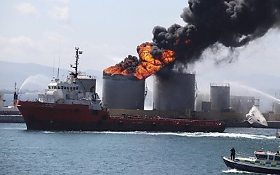 В порту Гибралтар взорвался танкер