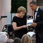 Ангела Меркель получила медаль Свободы