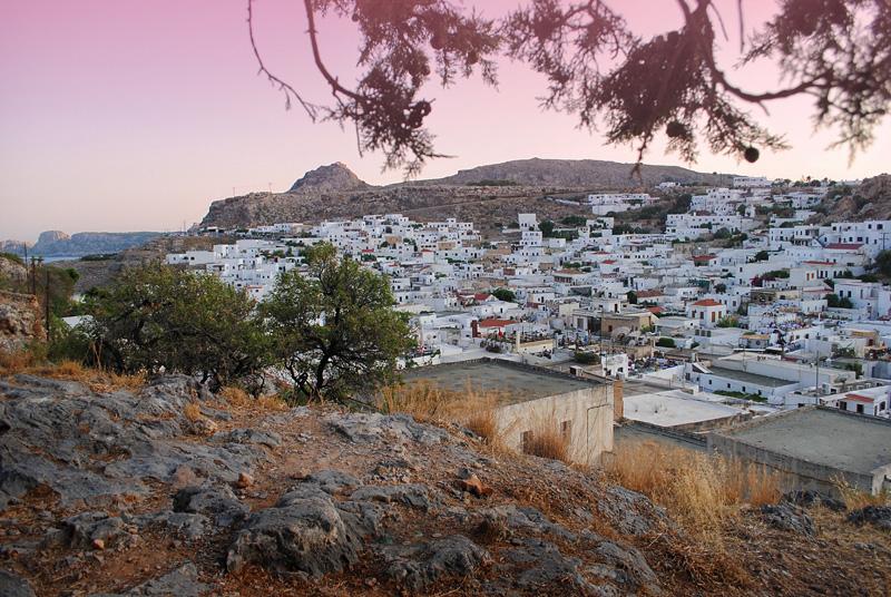 Город Линдос на греческом острове Родос