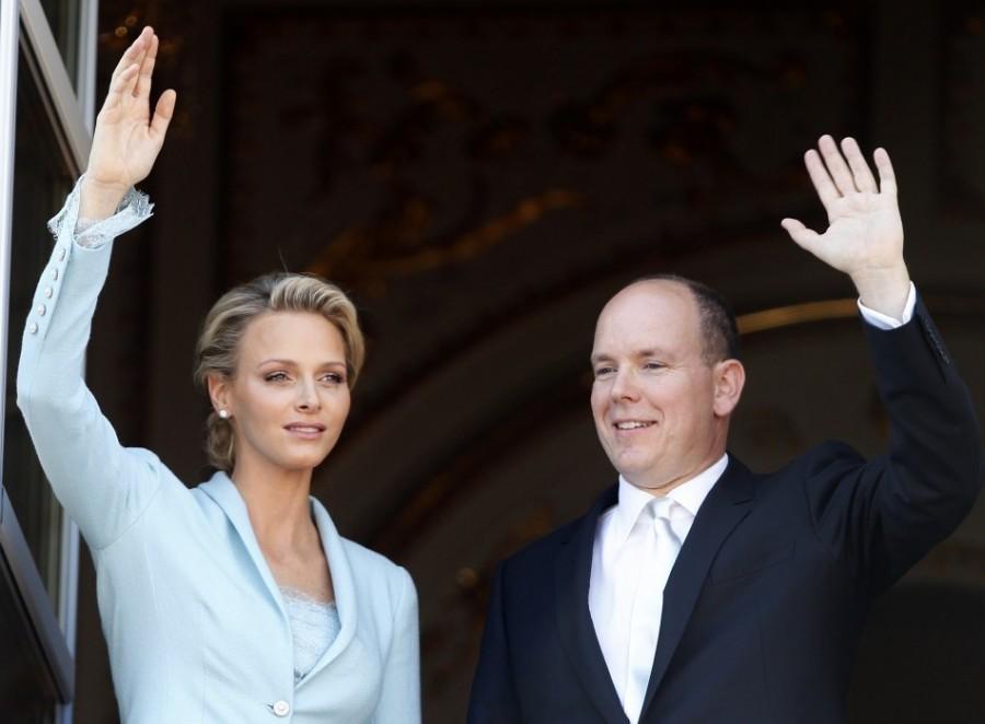 Князь Монако Альбер II и княгиня Шарлин, 1 июля 2011 года.