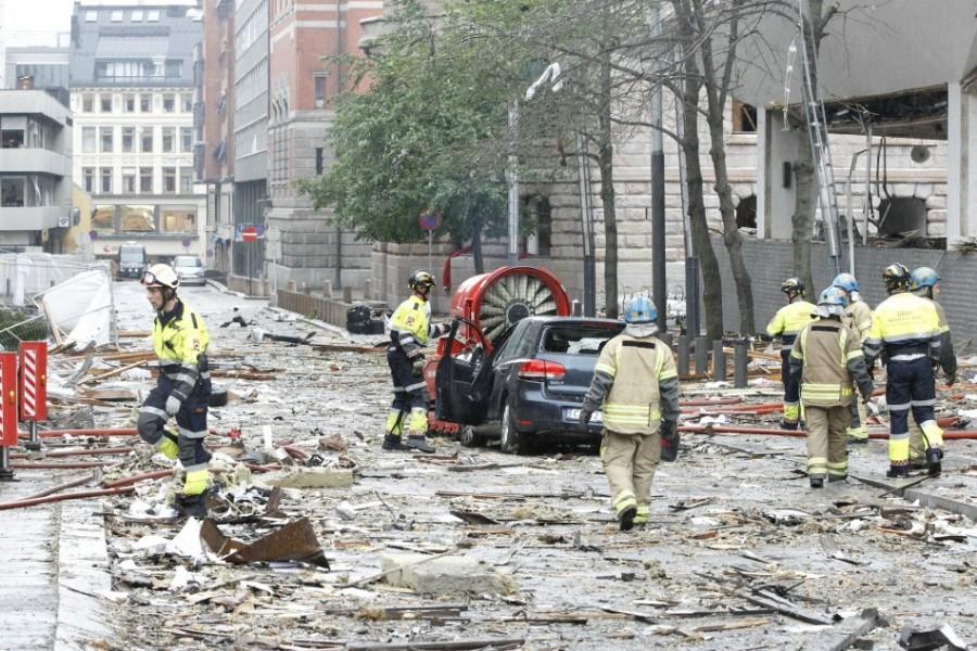 Мощный взрыв в Осло