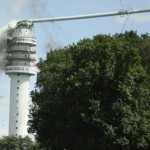 Нидерландская телебашня погибла в огне