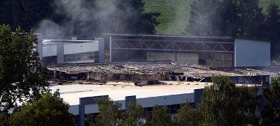 Крупный пожар в Германии