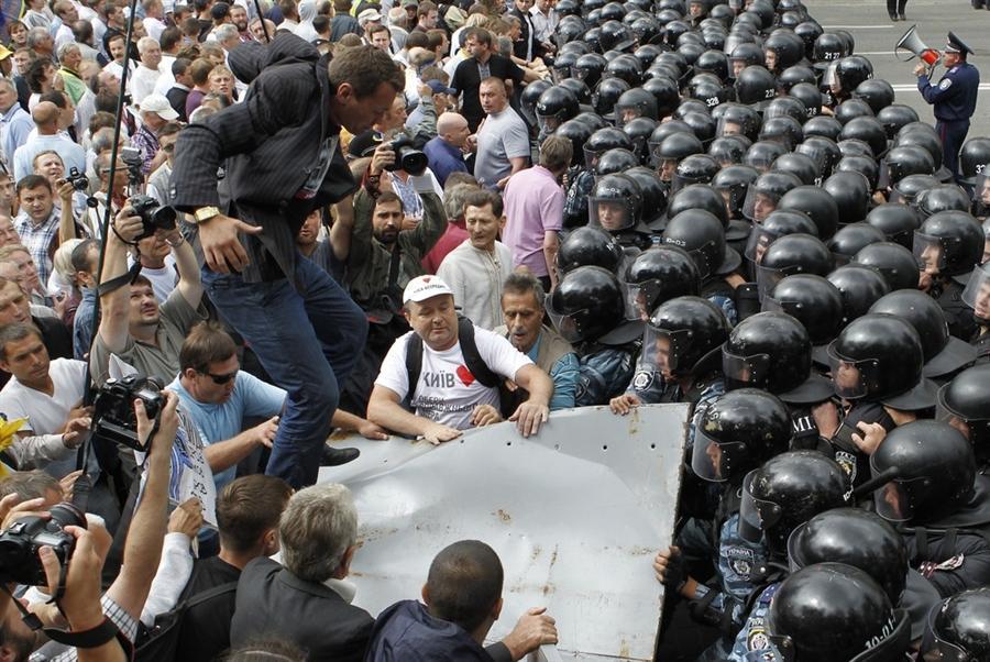 Протест оппозиции в Киеве