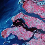 Побережье Нидерландов со спутника