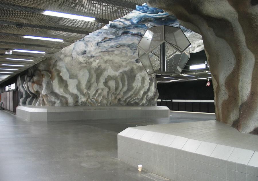 Метро Стокгольма - вход в зазеркалье