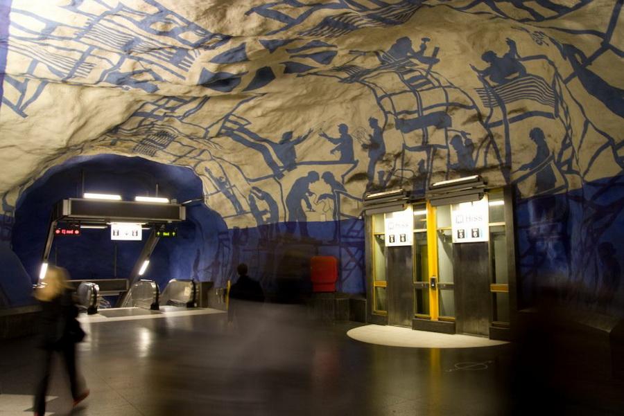 Метро Стокгольма - картинки из жизни