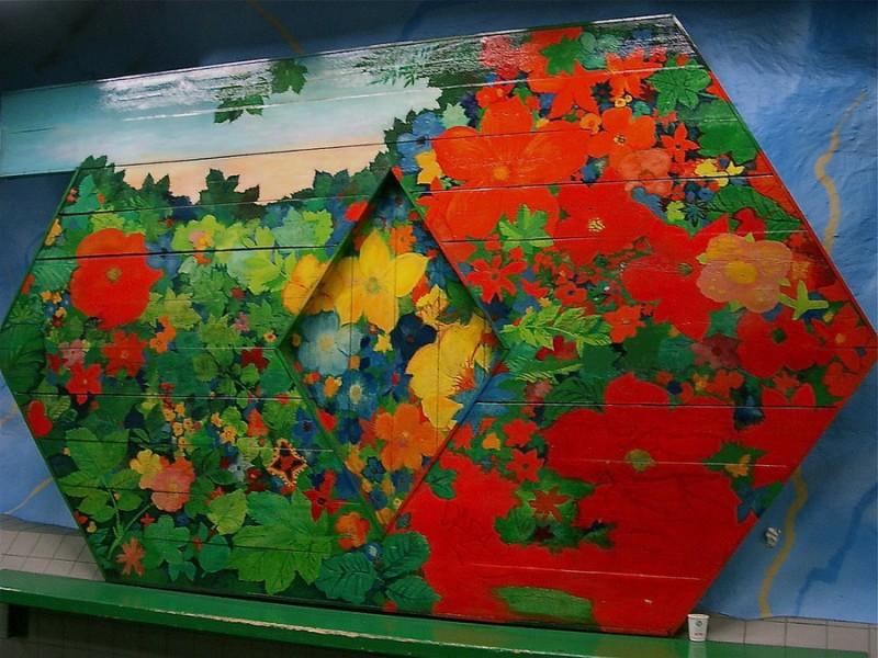 Метро Стокгольма - цветочная композиция