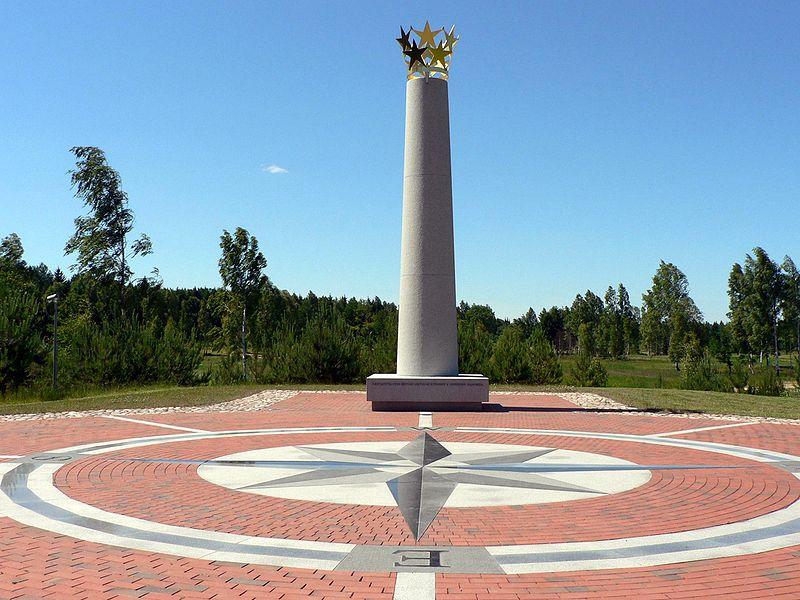 Центр Европы - Стелла в Литве