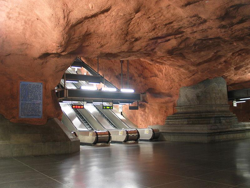 Метро Стокгольма - скальный грот