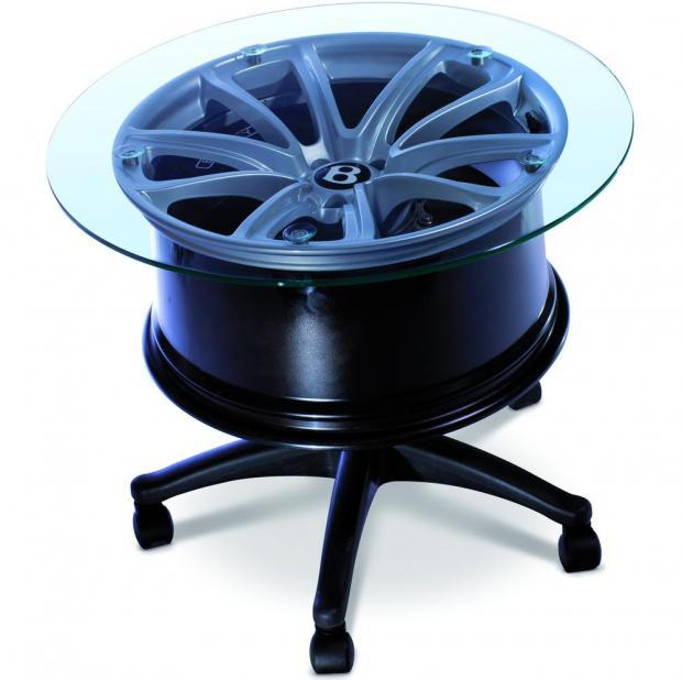 Журнальный столик из легкосплавного колесного диска