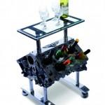 Столик, с возможностью хранения 12 бутылок вин - 6-литровый двигатель W12 от New Continental GT