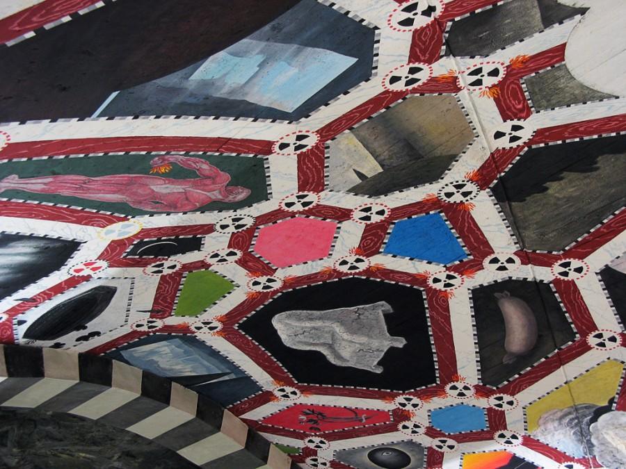 Метро Стокгольма - потолочная инсталляция