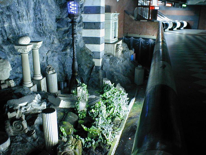 Метро Стокгольма - римские руины