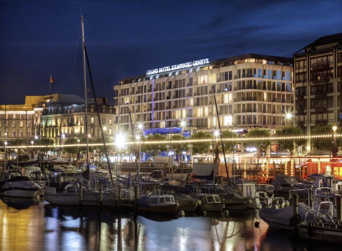Вид на отель Kempinski в Женеве