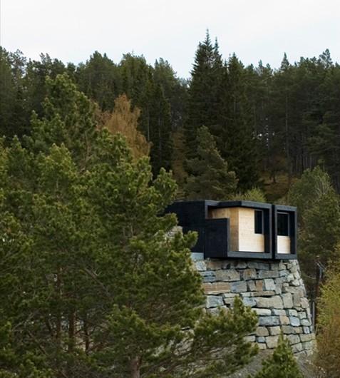 Общественный туалет, а заодно и смотровая площадка в Аурланде