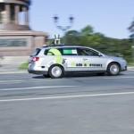 Автомобиль без водителя на улицах Берлина