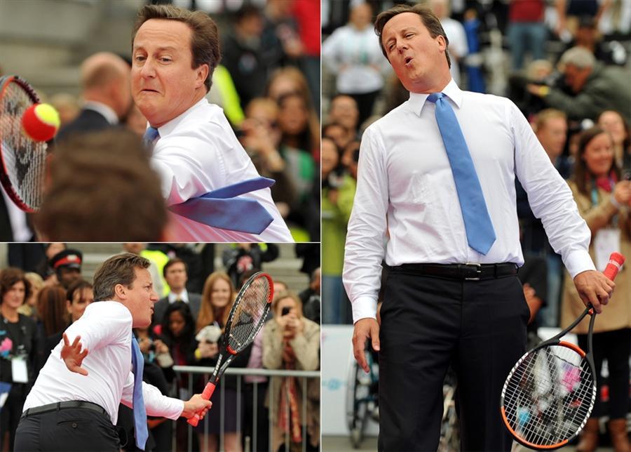 Партия в теннис премьер-министра Великобритании Дэвида Кэмерона