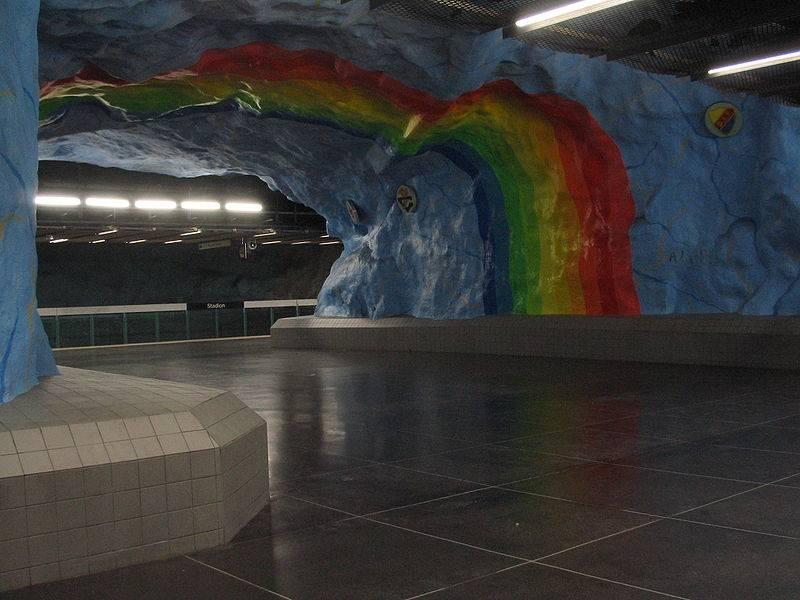 Метро Стокгольма - подземная радуга