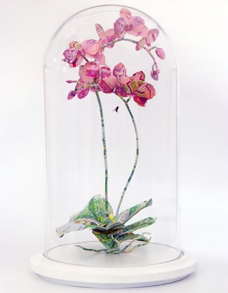 Орхидея - проволока, туркменский манат