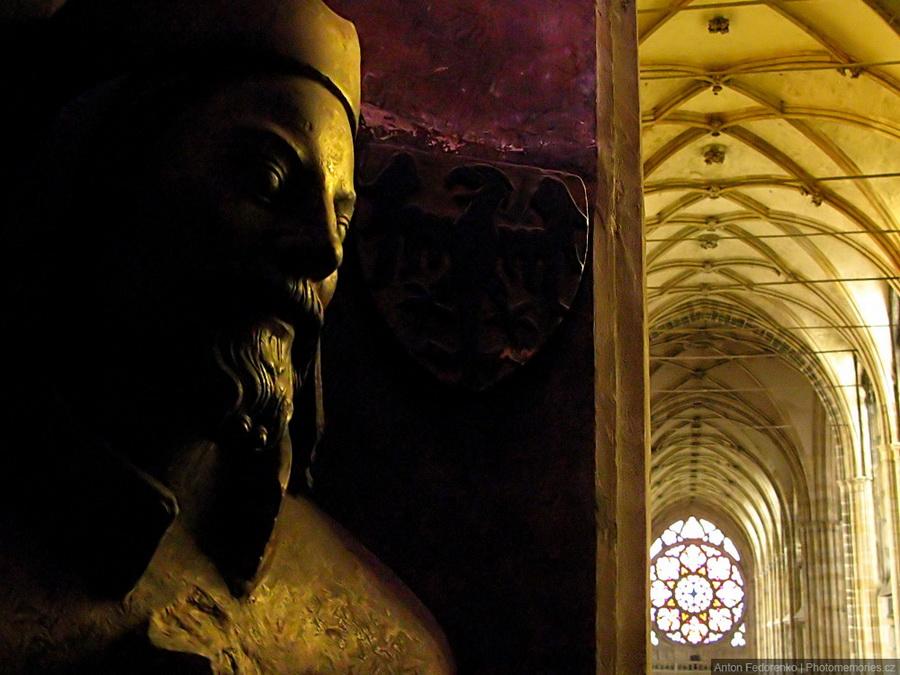 Бюст императора Карла IV. v соборe святого Вита