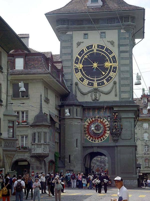 """Часы Колокольни Цитглоггетурм"", Берн, Швейцария"