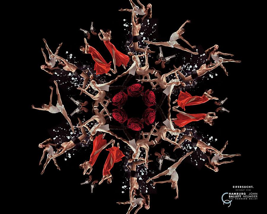 """""""Движение, страсть и смелость"""" - девиз рекламной акции Гамбургского Балета"""
