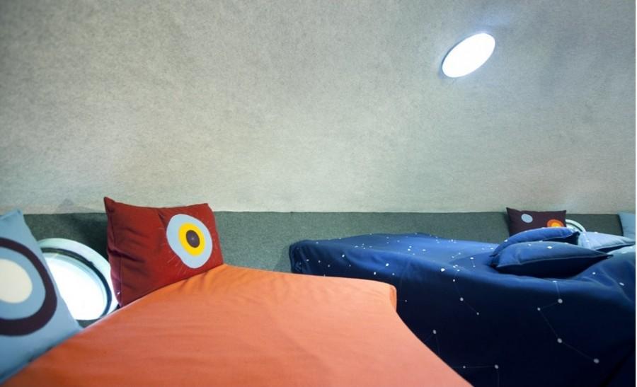 В номере все сделано так, чтобы умчать вас в детство, площадь 30 кв. метров