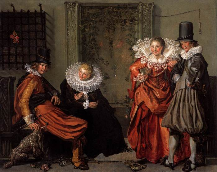 Willem Pietersz Buytewech, Dignified Couples Courting, 1618