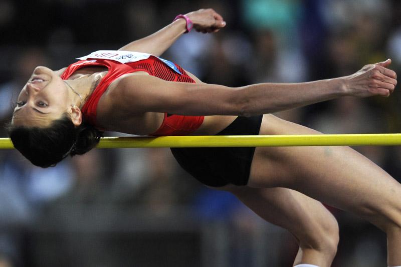 Анна Чичерова (прыжки в высоту) - третье место