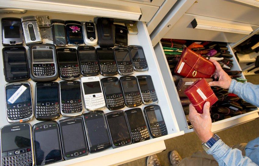 Потерянные телефоны и бумажники с кошельками