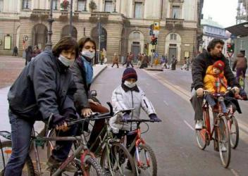 Улицы Милана без машин
