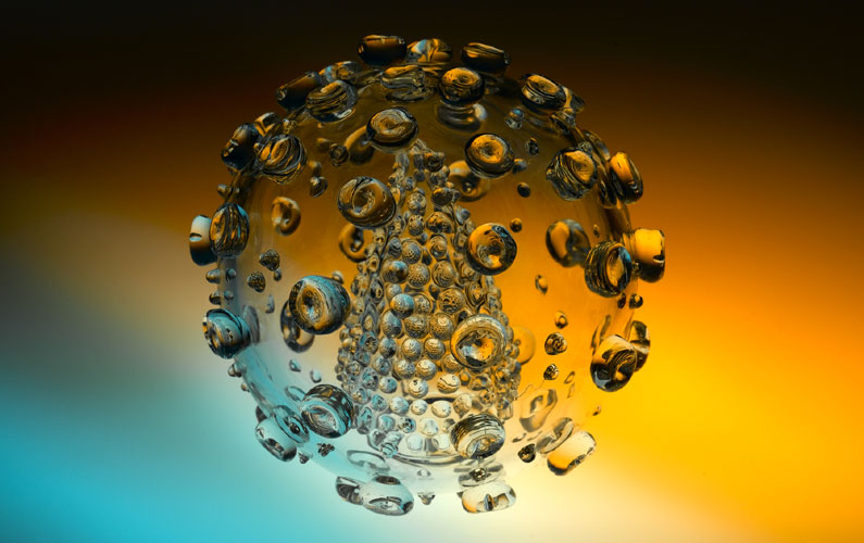 Специально сделанная для исследований - прозрачная клетка ВИЧ