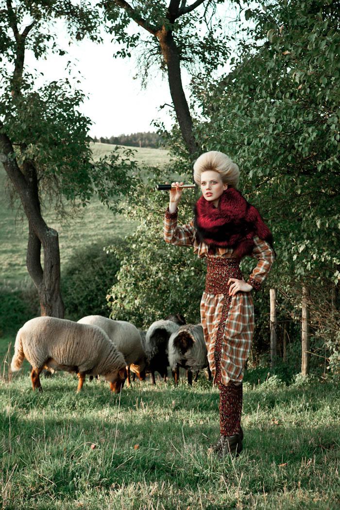 """Сельская фотосессия – """"Романтика"""" от Марии Шмидт, Кельн, Германия, модели: Генриетта и Серафина"""