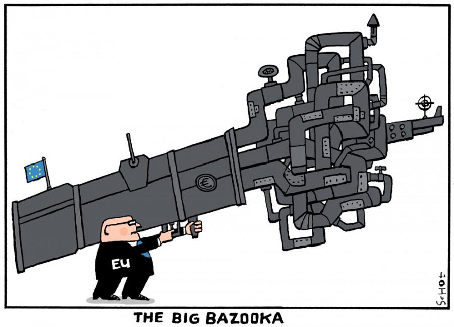 Президент Европейского Совета Херман Ван Ромпей  с Большой базукой