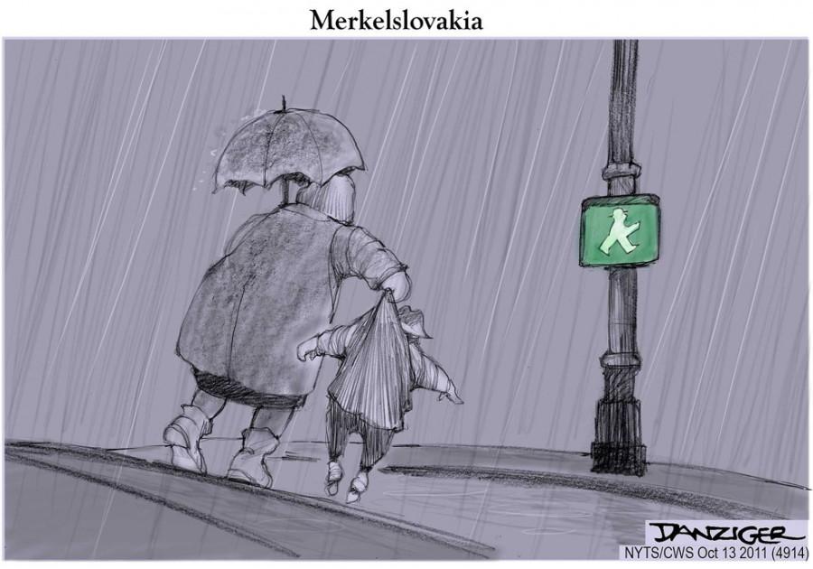 Германия тащит через дорогу Словакию