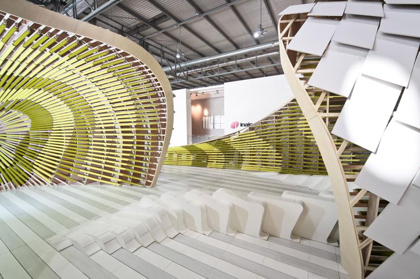 Необычная экспозиция испанской керамической плитки на MADE EXPO 2011 в Милане
