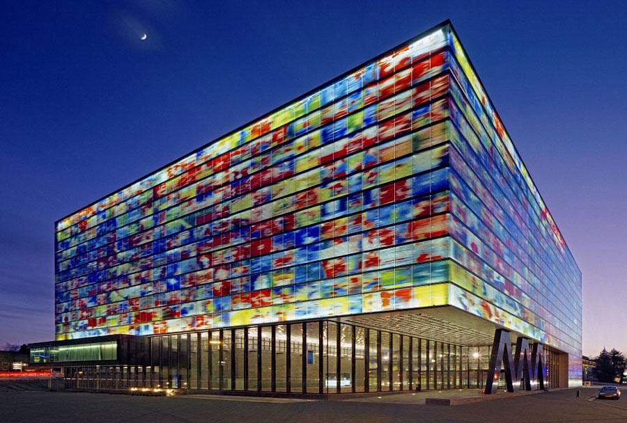 Фасад Музея образа и звука, в котором проводится соревнование