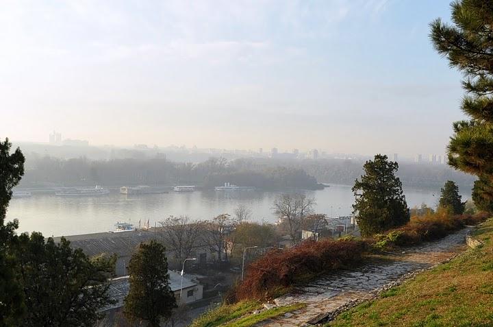 Слияние Савы с Дунаем.