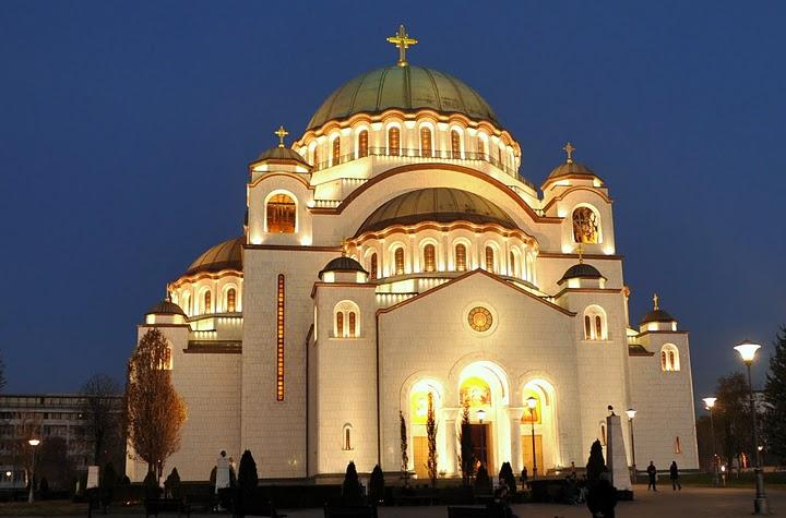 Кафедральный Собор Св.Савы -самый большой в Европе православный храм