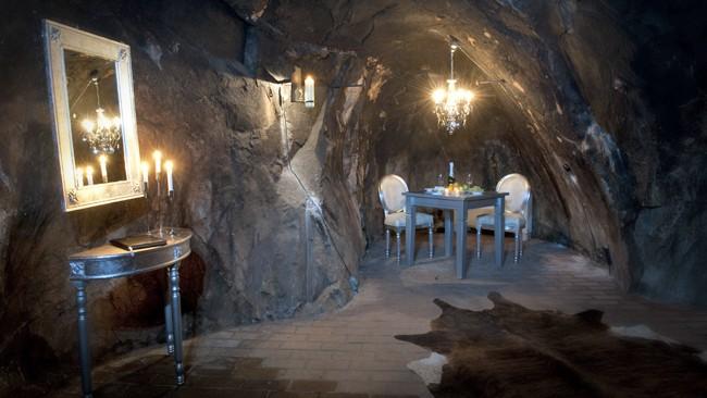 Подземный отель Sala Silvermine в Швеции, на глубине 155 метров