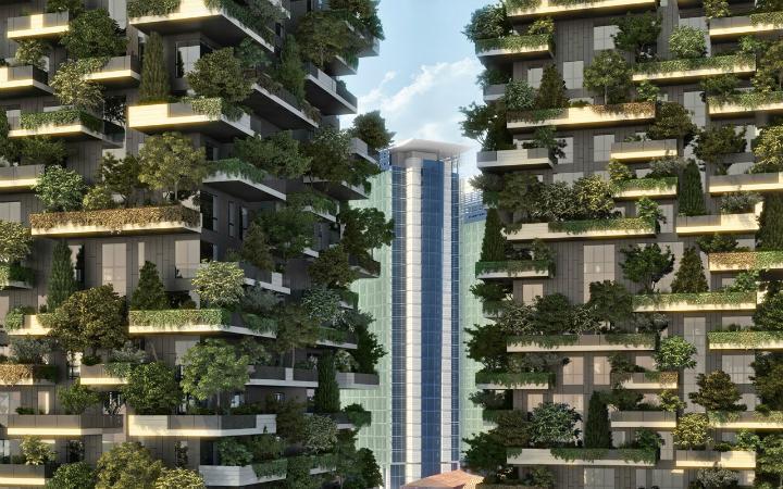 Вертикальный лес - жилые дома в Милане