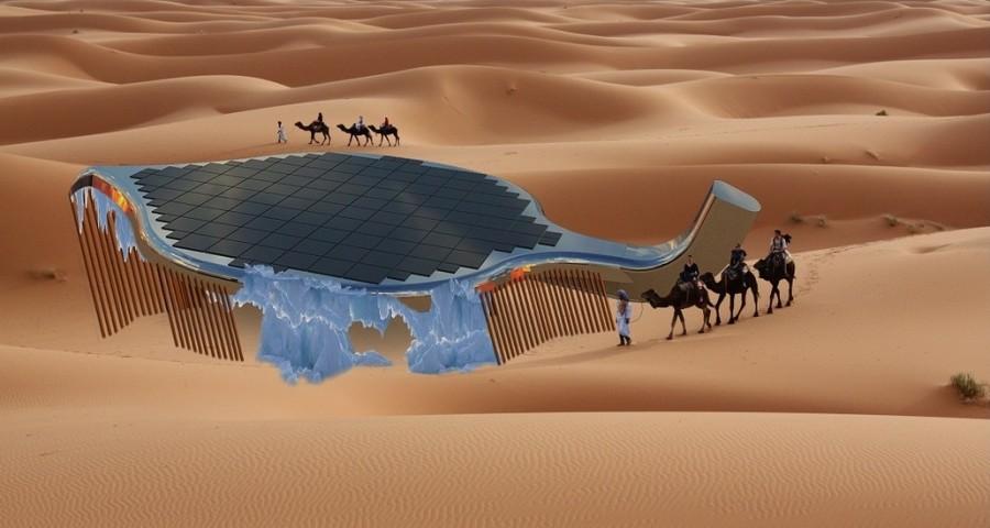 Проект SunGlacier для образования льда в пустыне