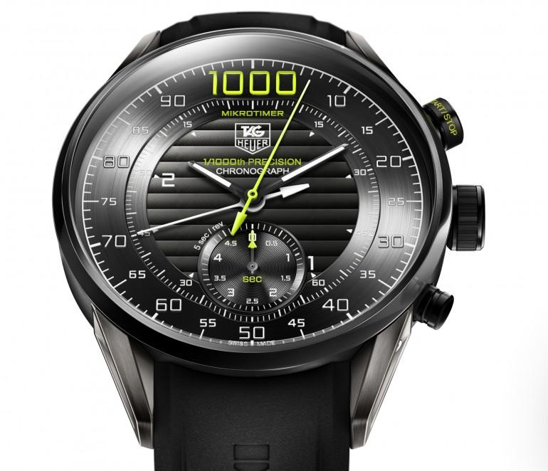 Победитель - Часы для спорта, Tag Heuer MIKROTIMER, хронограф измеряет время до одной тысячной секунды