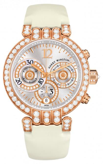Один из номинантов - женские часы, 58 400 швейцарских франков, Pink Gold, Harry Winston